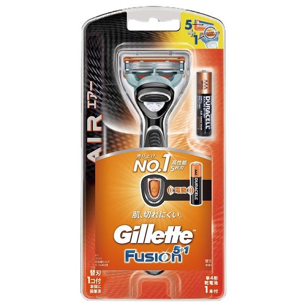 ジレット フュージョン5+1 パワーエアー 髭剃り 本体 替刃1個付