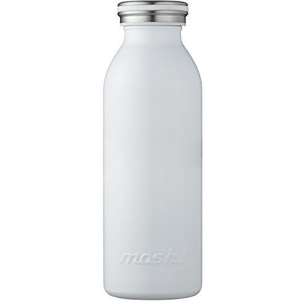 水筒 真空断熱 スクリュー式 マグ ボトル 0.45L ホワイト mosh! (モッシュ! ) DMMB450WH
