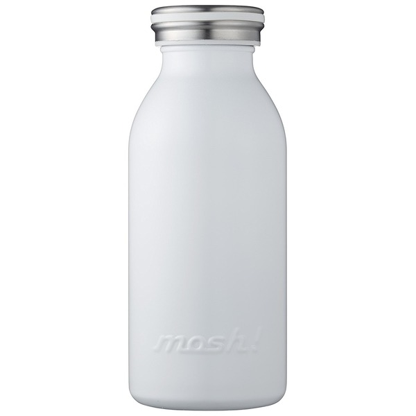水筒 真空断熱 スクリュー式 マグ ボトル 0.35L ホワイト mosh! (モッシュ! )