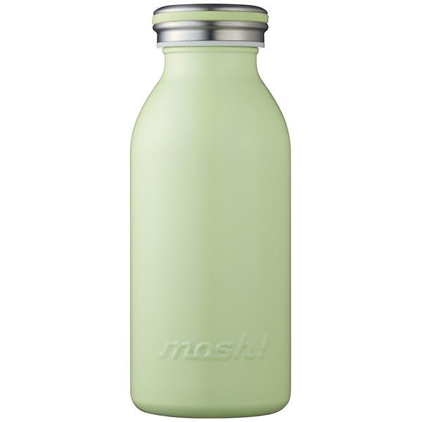 水筒 真空断熱 スクリュー式 マグ ボトル 0.35L グリーン mosh! (モッシュ! )
