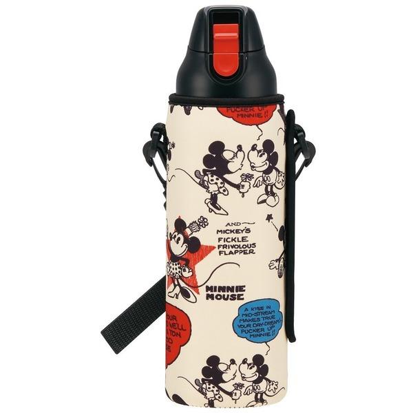直飲み ステンレス 水筒 800mlボトルカバー付き ミッキーマウス ディズニー KSDS8RN