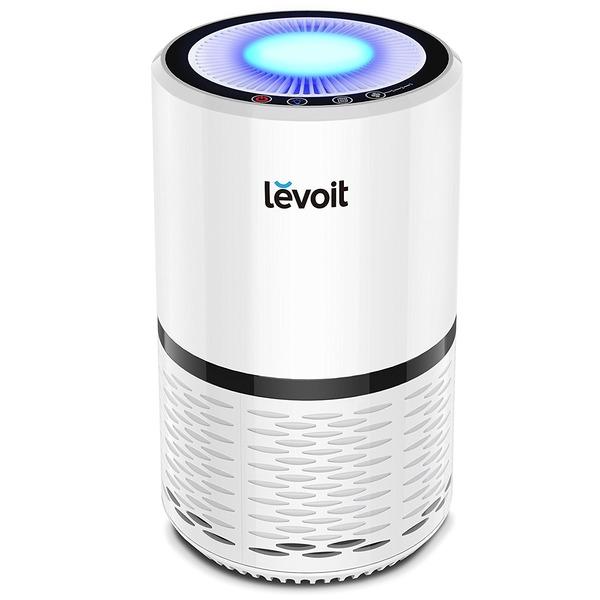 Levoit 空気清浄機 小型 花粉・アレル物質対策 PM2.5対応 省エネ 風量切替 脱臭 夜間ライト付き 高性能HEPAフィルター搭載 LV-H132