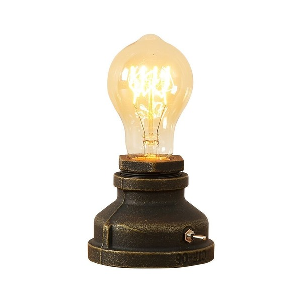 スタンドライト 電球スタンド LEDヴィンテージスタイル 鉄金属ベース アンティーク 室内テーブルライトE27エジソン 電球 スタンド デスクライトベッドサイドライト 玄関 階段 リビングルーム、ダイニングルーム、書斎、レストラン、バー常夜灯 (#B)
