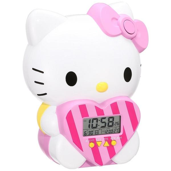 セイコー クロック 目覚まし時計 ハローキティ キャラクター型 おしゃべり アラーム デジタル 温度 表示 JF375A SEIKO