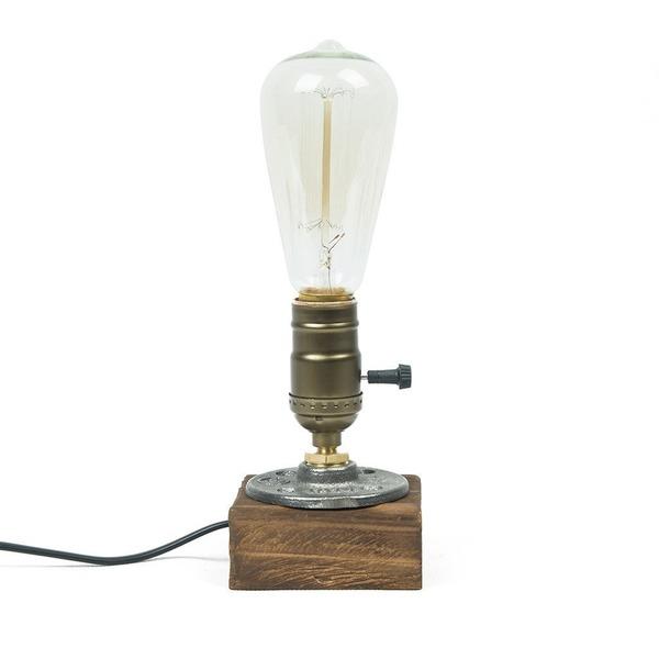 OYGROUP E26 ヴィンテージ 木製テーブルランプ 卓上ライト 1灯