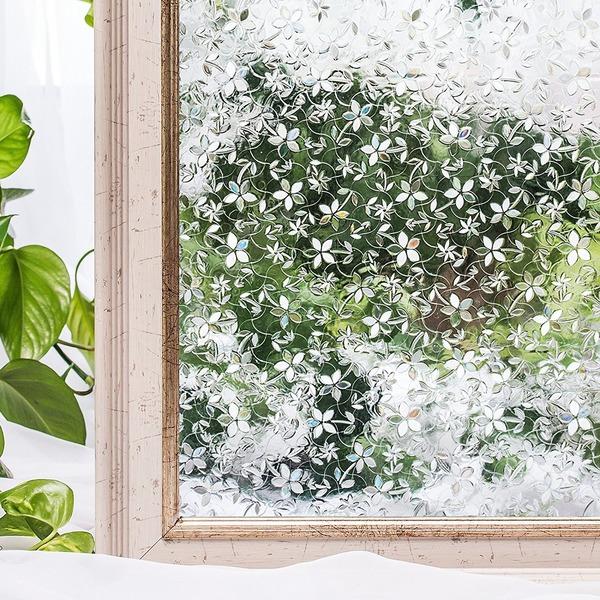 CottonColors(コットンカラーズ) 窓用フィルム 目隠しシート 断熱 紫外線カット 何度も貼り直せる 粘着剤なし プライバシーガラスフィルム 90x200cm [桜012]