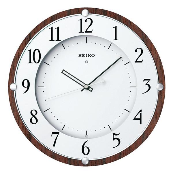 セイコー クロック 掛け時計 電波 アナログ 木枠 茶 木地 KX373B SEIKO