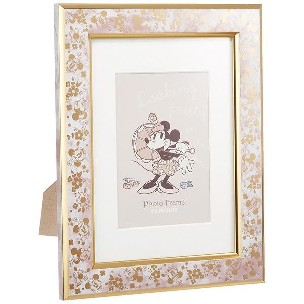 FUJICOLOR 写真立て ディズニー シングルフォトフレーム ミニーマウス L/2L ピンク 505621