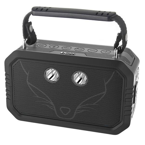 DOSS Traveler Bluetoothスピーカー防水アウトドアスピーカーDSP搭載低音強化 IP66防水&防塵出力20W12時間連続再生可能 LEDライト付きUSB充電AUX入力TFカード野外対応
