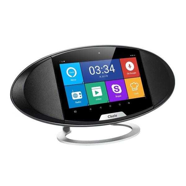 Clazio (クラジオ) ワイヤレススピーカー タッチスクリーン ボイスコントロール機能搭載 Bluetooth