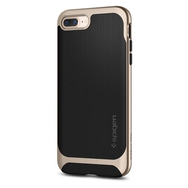 【Spigen】 iPhone8 Plus ケース / iPhone7 Plus ケース, [ 二重構造 バンパー ] [ Qi 充電 対応 ] [ 米軍MIL規格取得 ] [ 落下 衝撃 吸収 ] ネオ・ハイブリッド ヘリンボーン アイフォン 8 プラス / 7 プラス 用 カバー (iPhone8 Plus / iPhone7 Plus, シャンパン・ゴールド)