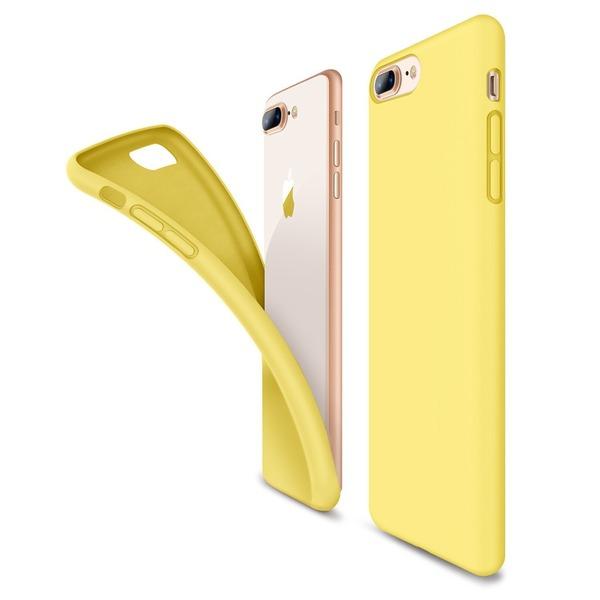 【Humixx】(ヒュミス) iphone 7 plus ケース iphone 8 plus ケース [ シリコン ケース ] [ マイクロファイバー 裏地 ] [ 手触り良い シルキー ] [ 落下 衝撃 吸収 ] アイフォン 7/8 Plus 用 耐衝撃カバー (iPhone 7/8 plus, イエロー)