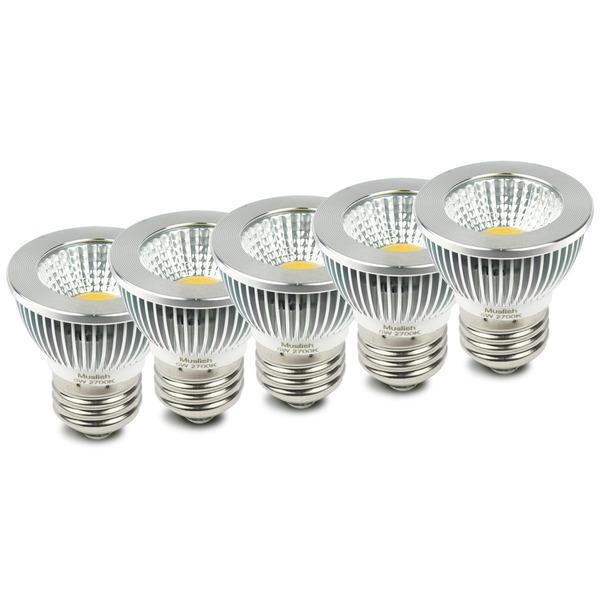 Muslish LED電球 口金E26 スポットライト (5W) 50W型相当 広角90度 電球色相当2700K 450lm(5個, 電球色)