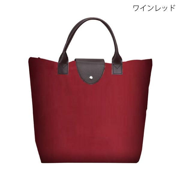K・トート(折りたたみバッグ) ワインレッド
