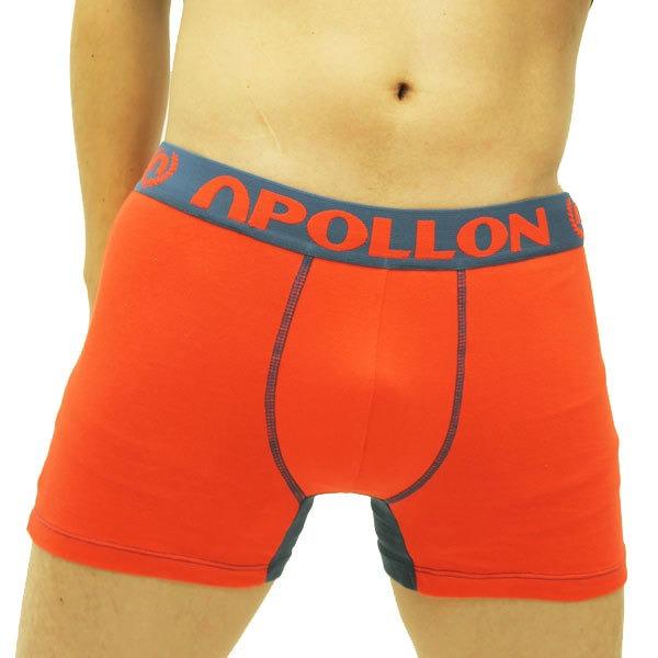 【APOLLON by FREEGUN】メンズ ボクサーパンツ 1P( レッド×ネイビー)Mサイズ (4枚セット)