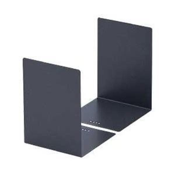 (業務用セット) カール L型ブックエンド 2枚組 グレー 【×5セット】