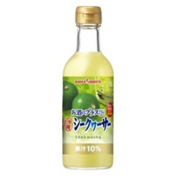 【まとめ買い】ポッカサッポロ お酒にプラス 沖縄シークヮーサー 300ml 瓶 12本入り(1ケース)