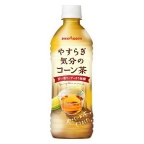 【まとめ買い】ポッカサッポロ やすらぎ気分のコーン茶 ペットボトル 500ml 48本入り【24本×2ケース】