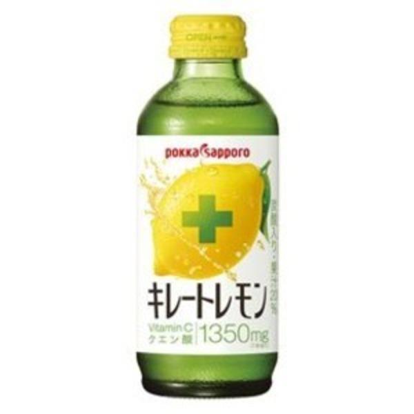 【まとめ買い】ポッカサッポロ キレートレモン 瓶 155ml 48本入り【24本×2ケース】