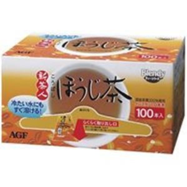 (業務用2セット)AGF 新茶人ほうじ茶スティック 100P/1箱