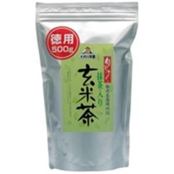 (業務用3セット)大井川茶園 徳用抹茶入り玄米茶500g袋 ×3セット