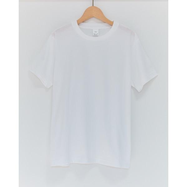 クルーネックメンズTシャツ ホワイトMサイズ