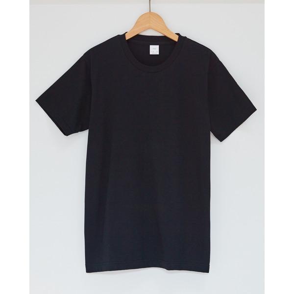 クルーネックメンズTシャツ ブラックLサイズ