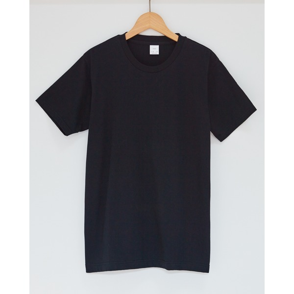クルーネックメンズTシャツ ブラックLサイズ 2枚セット
