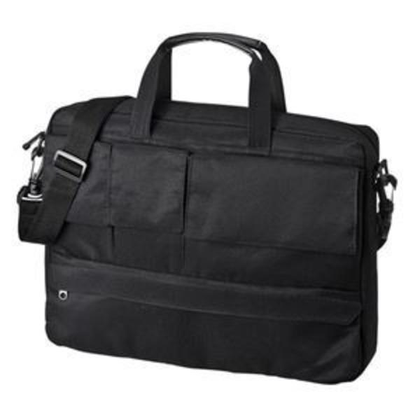 (まとめ)サンワサプライ カジュアルPCバッグ(13.3型ワイド) BAG-F8BK【×2セット】