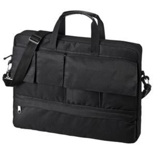 (まとめ)サンワサプライ カジュアルPCバッグ(15.6型ワイド) BAG-F7BK【×2セット】