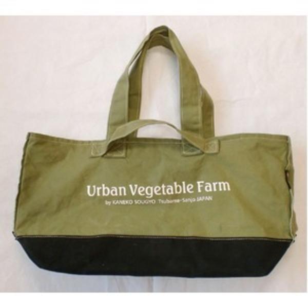 ツールバッグ 【トートタイプ】 綿100% 帆布製 日本製  Urban Vegetable Farm ツールバックトートタイプ・カラーグリーン