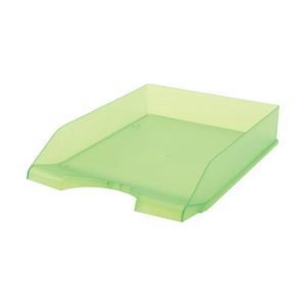 (業務用セット) クルーズ レタートレー 3段 グリーン A4 1個 型番:LT-500GR 【×10セット】