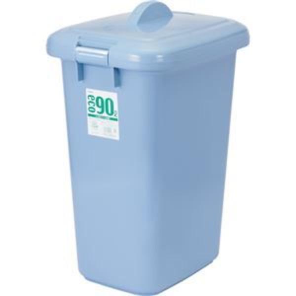 (まとめ) 積水テクノ成型 エコポリペール 角型 90L フタ ブルー PEKF90B 1個 【×5セット】
