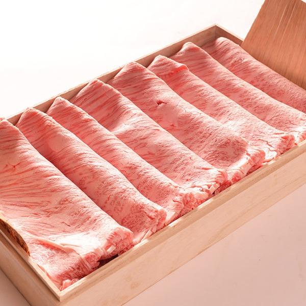 銀座牛サーロインすき焼き 500g  すき焼だれ付き(無添加)桐箱・証明書付き