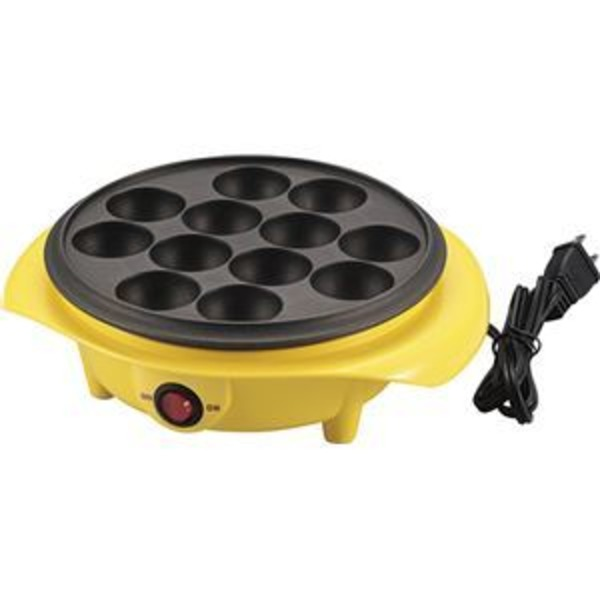 AD-12 電気たこ焼き器 12穴 黄 (箱入)