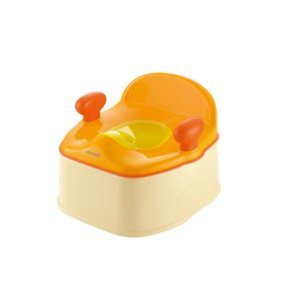 イス型おまる/ベビー用品 R 【オレンジ】 耐荷重:20kg トイレトレーニング 『ポッティス』