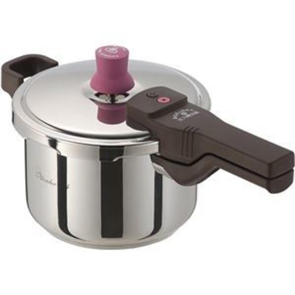 【ワンダーシェフ】 圧力鍋/ あなたとわたしの圧力魔法鍋 【3L】 2〜3人用 IH対応 レシピ付き