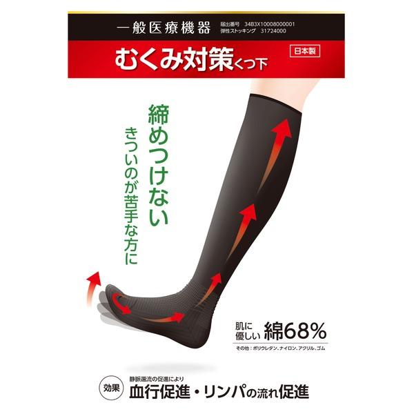 むくみ対策靴下 3足セット 23cm〜24cm