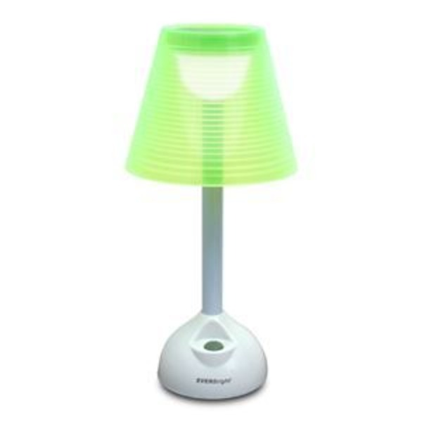ソーラー+USB LEDライト グリーン