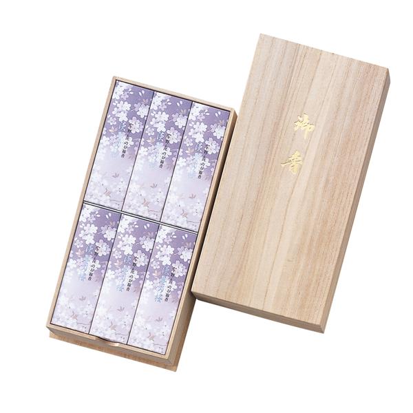 宇野千代のお線香 淡墨の桜 桐箱6入×1個