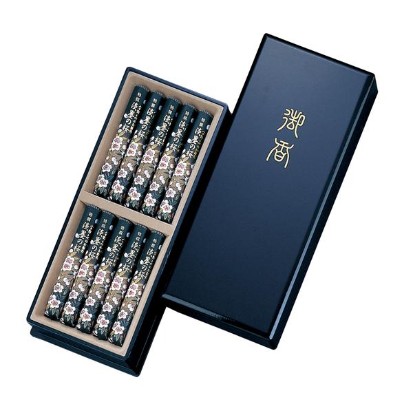 宇野千代のお線香 特撰淡墨の桜 塗箱10入×1個