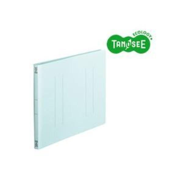 (まとめ)TANOSEE フラットファイル バインダー 2穴 <スタンダードカラー>A4ヨコ 150枚収容 青 10冊入×10パック