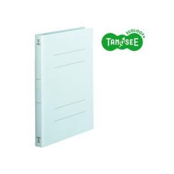 (まとめ)TANOSEE フラットファイル バインダー 2穴 <厚とじW>A4タテ 250枚収容 青 10冊入×10パック