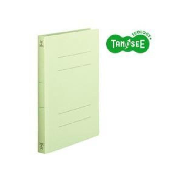 (まとめ)TANOSEE フラットファイル バインダー 2穴 <厚とじW>A4タテ 250枚収容 緑 10冊入×10パック