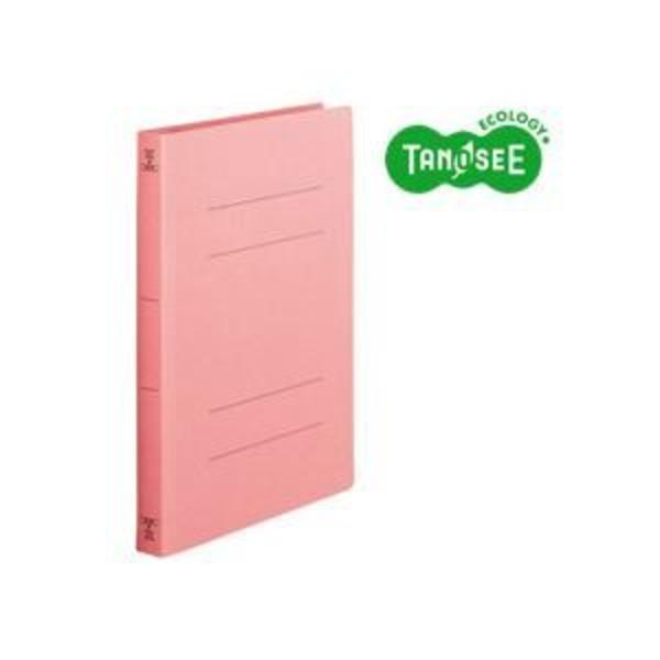 (まとめ)TANOSEE フラットファイル バインダー 2穴 <厚とじW>A4タテ 250枚収容 ピンク 10冊入×10パック