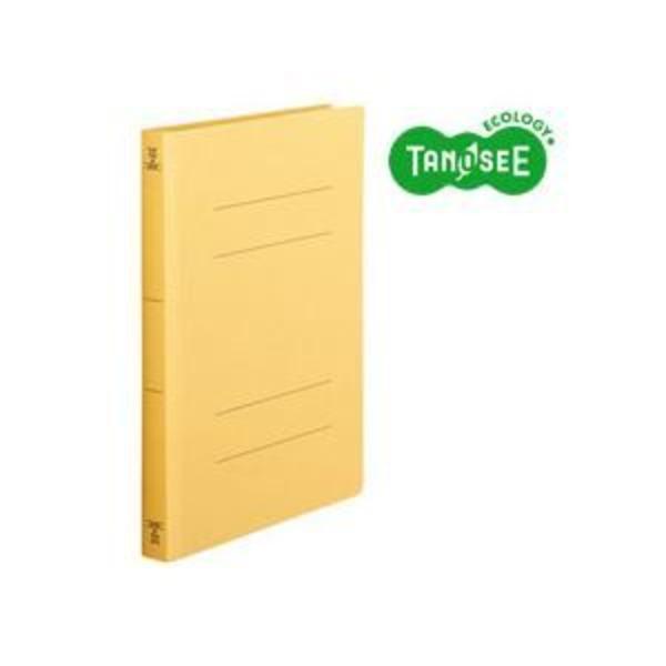 (まとめ)TANOSEE フラットファイル バインダー 2穴 <厚とじW>A4タテ 250枚収容 黄 10冊入×10パック