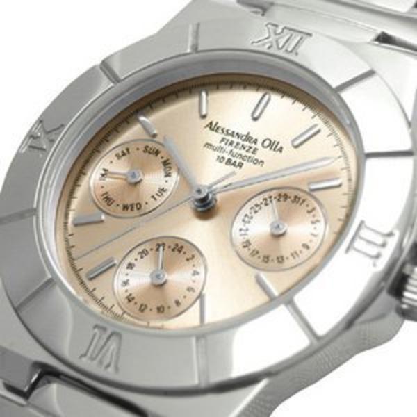 Alessandra Olla アレサンドラオーラ 腕時計 マルチファンクション レディースウォッチ AO-900-8 ピンクゴールド
