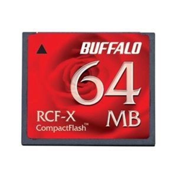 バッファロー コンパクトフラッシュ ハイコストパフォーマンスモデル 64MB RCF-X64MY