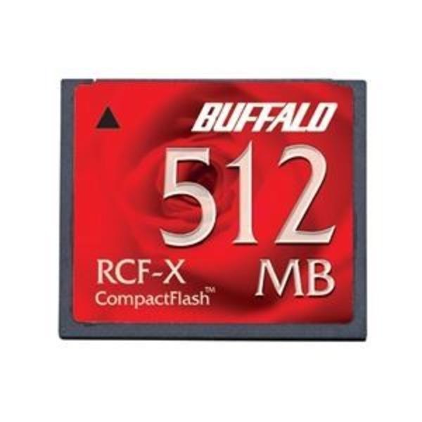 バッファロー コンパクトフラッシュ ハイコストパフォーマンスモデル 512MB RCF-X512MY