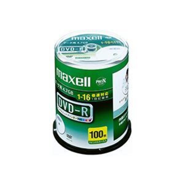 マクセル データ用DVD-R 4.7GB 1-16倍速 ホワイトワイドプリンターブル スピンドルケース DR47WPD.100SP A 1パック(100枚)